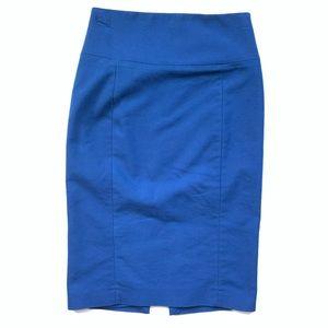 Royal Blue Express Pencil Skirt Sz 4